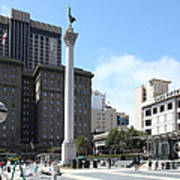 San Francisco - Union Square - 5d17933 Print by Wingsdomain Art and Photography