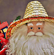 Santa Is A Gardener Print by Christine Till