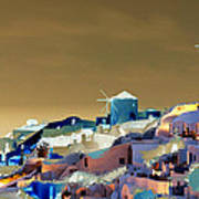 Santorini Print by Ilias Athanasopoulos