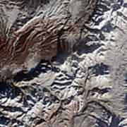 Satellite Image Of Russias Kizimen Print by Stocktrek Images