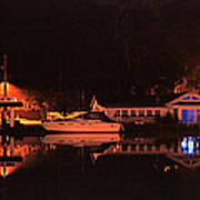 Saugatuck Chain Ferry Print by James Rasmusson