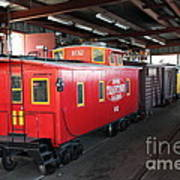 Scale Caboose - Traintown Sonoma California - 5d19240 Print by Wingsdomain Art and Photography