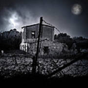 Scary House Print by Stelios Kleanthous