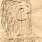 Sea Woman 2 Print by Georgeta  Blanaru