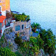 Seaside Villa Amalfi Print by Bill Cannon