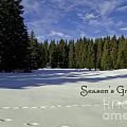 Season's Greetings Austria Europe Print by Sabine Jacobs