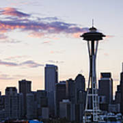 Seattle Skyline At Dusk Print by Jeremy Woodhouse