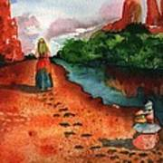 Sedona Arizona Spiritual Vortex Zen Encounter Print by Sharon Mick