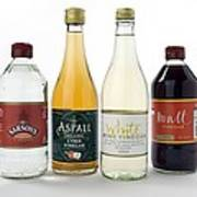 Selection Of Vinegars Print by Trevor Clifford Photography