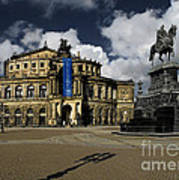 Semper Opera House Dresden - A Beautiful Sight Print by Christine Till
