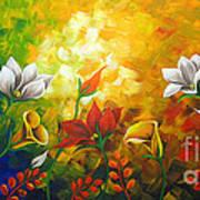 Sentient Flowers Print by Uma Devi