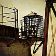 Sentry Box In Alcatraz Print by RicardMN Photography
