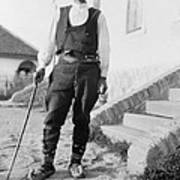 Serbian Man Wearing Hat, Vest, Belted Print by Everett