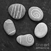 Serenity Stones Print by Linda Woods