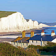 Seven Sisters Cottage View Print by Michael Stretton