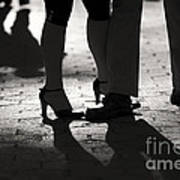 Shadows Of Tango Print by Leslie Leda