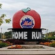 Shea Stadium Home Run Apple Print by Rob Hans