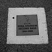 Shea Stadium Second Base Print by Rob Hans