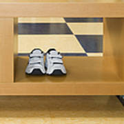 Shoes In A Shelving Unit Print by Andersen Ross