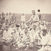 Siberia, Siberian Convicts Taking Lunch Print by Everett