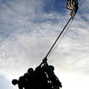 Silhouette Of The Iwo Jima Statue Print by Michael Wood