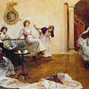 Silks And Satins Print by Albert Chevallier Tayler
