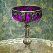 Silver Chalice With Jewels Print by Jill Battaglia