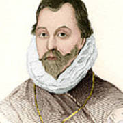 Sir Francis Drake, English Explorer Print by Sheila Terry