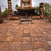 Sitting Buddha Print by Adrian Evans