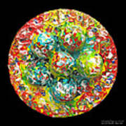 Six  Colorful  Eggs  On  A  Circle Print by Carl Deaville