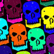 Skulls Print by Jame Hayes