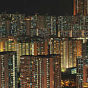 Skyline At Night Print by Ryan Cheng Photography