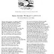 Slavery. An Abolitionist Poem Entitled Print by Everett