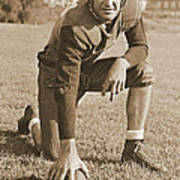 Slingin' Sammy Baugh 1937 Sepia Print by Padre Art