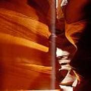 Slot Canyon Shaft Of Light Print by Garry Gay
