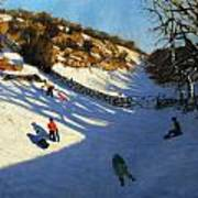 Snow In The Valley Print by Andrew Macara