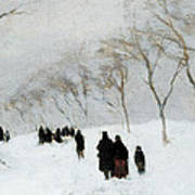 Snow Storm Print by Anton Mauve