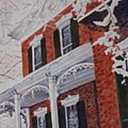 Snowy Yesteryear Print by Patsy Sharpe