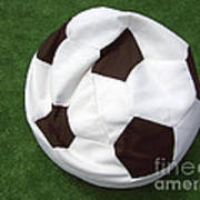 Soccer Ball Seat Cushion Print by Matthias Hauser