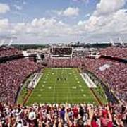 South Carolina View From The Endzone At Williams Brice Stadium Print by Replay Photos