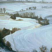 South Limburg Covered With Snow Print by Nop Briex