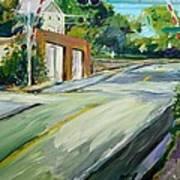 South Main Street Train Crossing Print by Scott Nelson