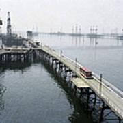 Soviet Caspian Sea Oil Fields, 1978 Print by Ria Novosti