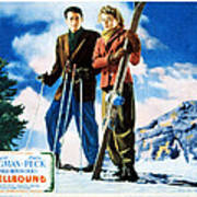 Spellbound, Gregory Peck, Ingrid Print by Everett