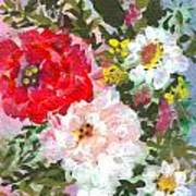 Splashy Flowers Print by Debbie Wassmann