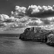 St Catherines Rock Tenby Print by Steve Purnell