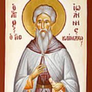 St John Climacus Print by Julia Bridget Hayes