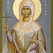 St Kyriaki Print by Julia Bridget Hayes