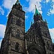 St. Lorenz Church - Nuremberg Print by Juergen Weiss