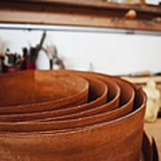 Stack Of Wooden Bowls Print by Jetta Productions, Inc